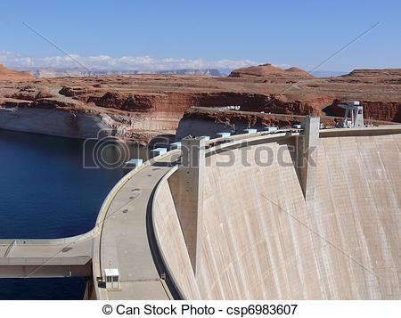 Picture of Glen Canyon Dam, Lake Powell, Arizona.