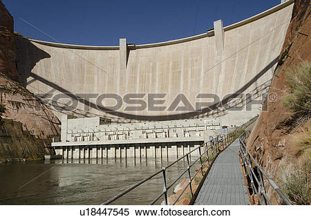 Stock Image of Glen Canyon Dam on Colorado River, Glen Canyon.