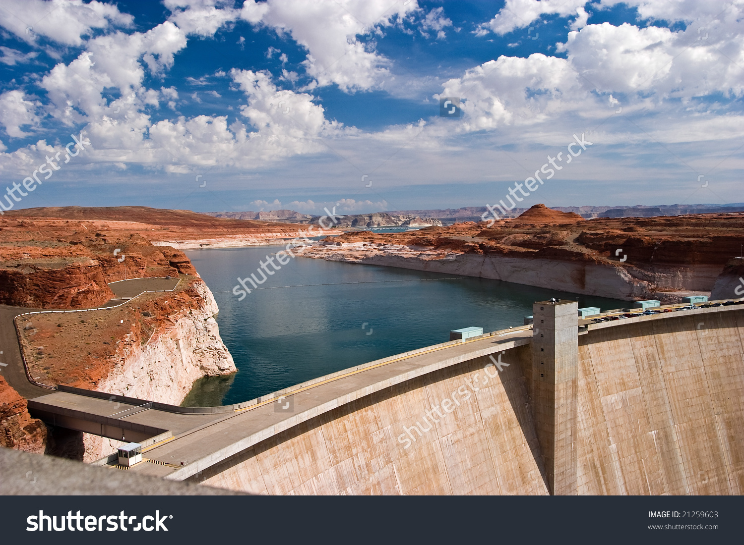 Hydro Power Electric Dam Lake Powell.