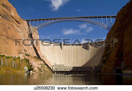 Stock Photography of fitness glen canyon dam colorado river page.