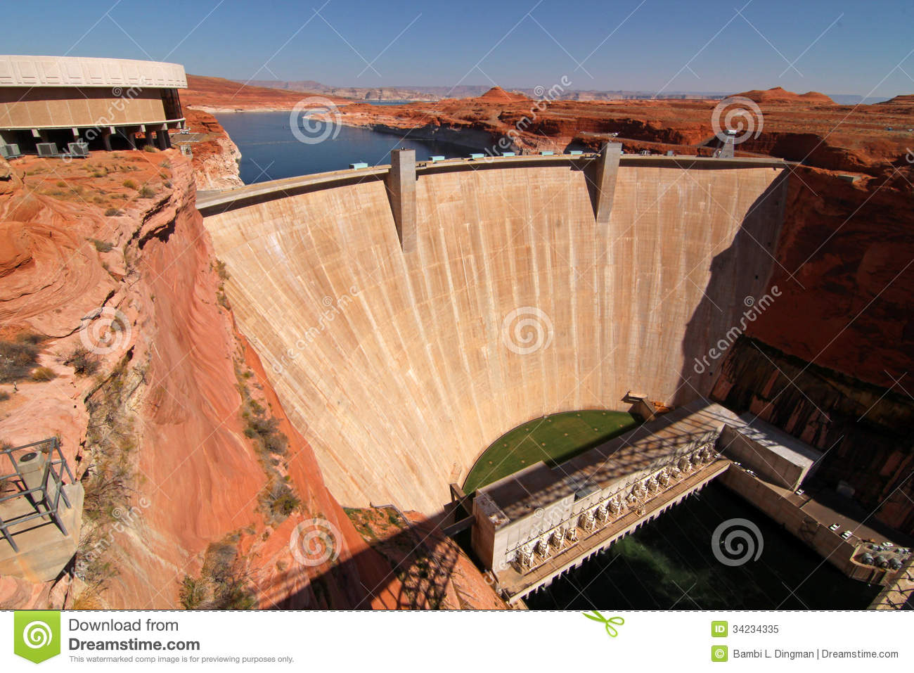 Glen Canyon Dam / Lake Powell Royalty Free Stock Photo.