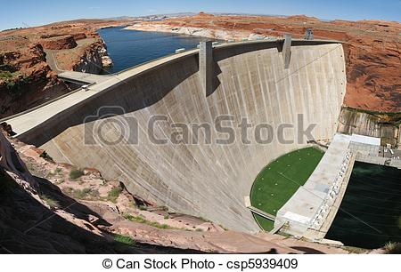 Stock Photographs of Glen Canyon Dam.