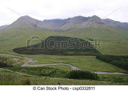 Stock Photography of Glen Brittle, Isle of Skye, Scotland.