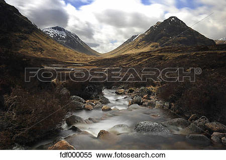 Stock Image of UK, Scotland, Glen Coe highlands fdf000055.