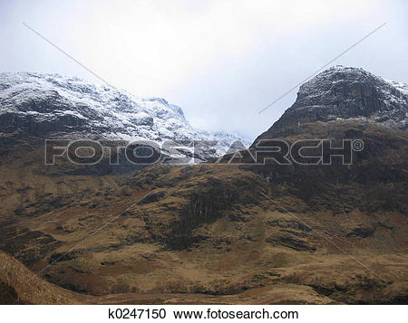 Stock Photography of Glencoe in winter k0247150.