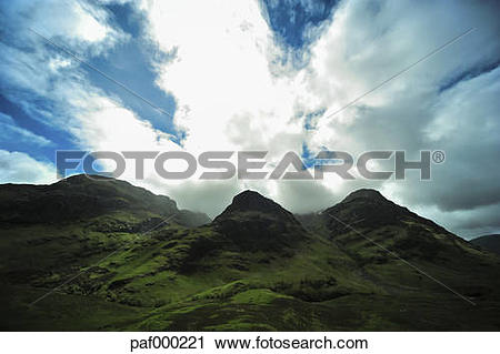 Stock Photography of UK, Scotland, Glen Coe, view to place of.