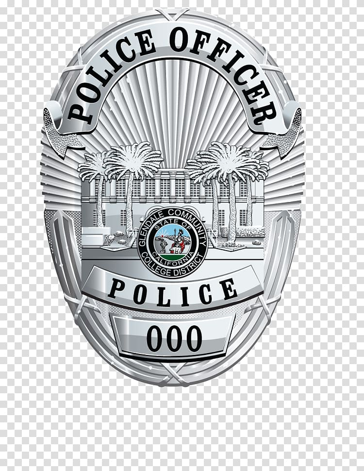 Badge Police Crime Glendale Community College Security.