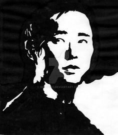 Steven Yeun as Glenn by Melski83 on DeviantArt.