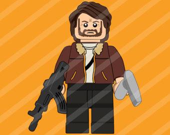 Walking Dead Clipart Glenn Clipart Lego by TwistedStudioAU.