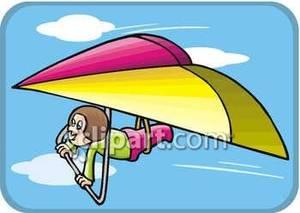 Hang gliding clipart