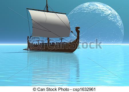 Clipart of VIKING SHIP 2.