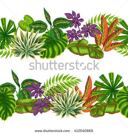 Jungle Plants Lizenzfreie Bilder und Vektorgrafiken kaufen.