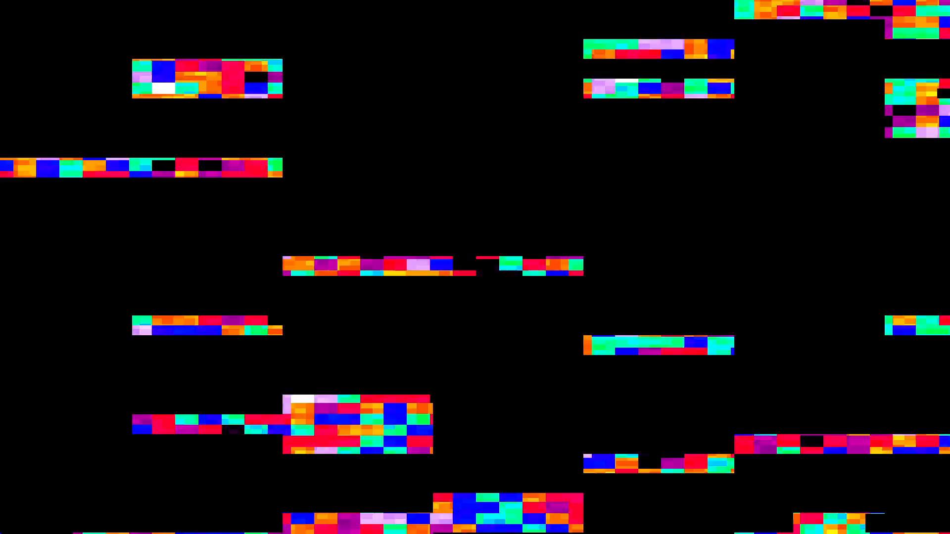 Bad TV Glitch Effect Motion Background.