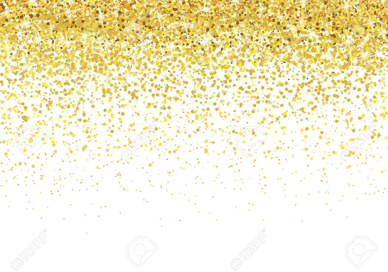 Gold glitter background Vector.