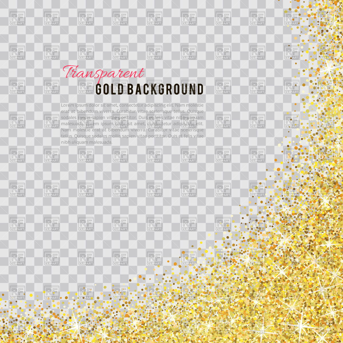 Gold glitter background Stock Vector Image.