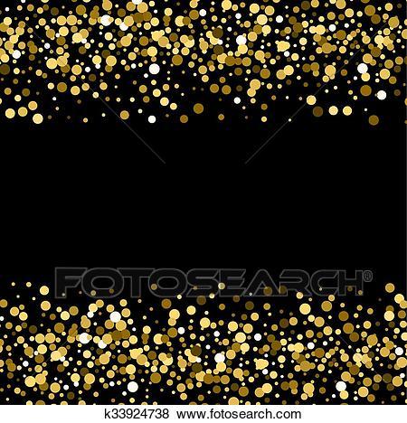 Gold glitter background. Clip Art.