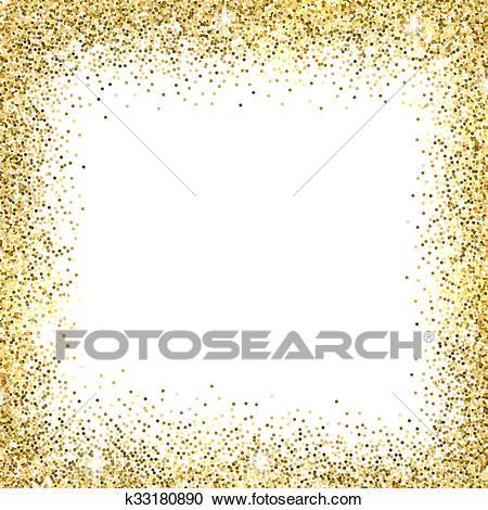 Gold glitter background. Clipart.