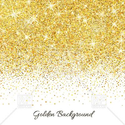 Gold glitter background Vector Image.