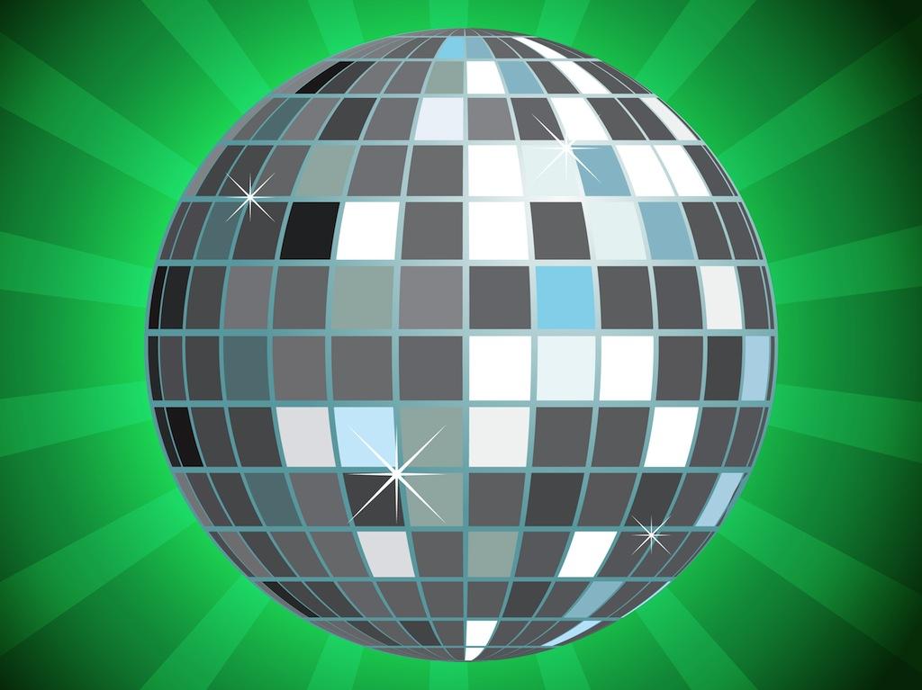 Glitter Ball Vector.