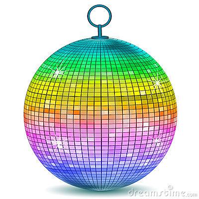 Colorful Disco Ball Stock Photos.