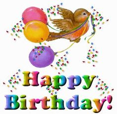 Animated Happy 25th Birthday Clipart.