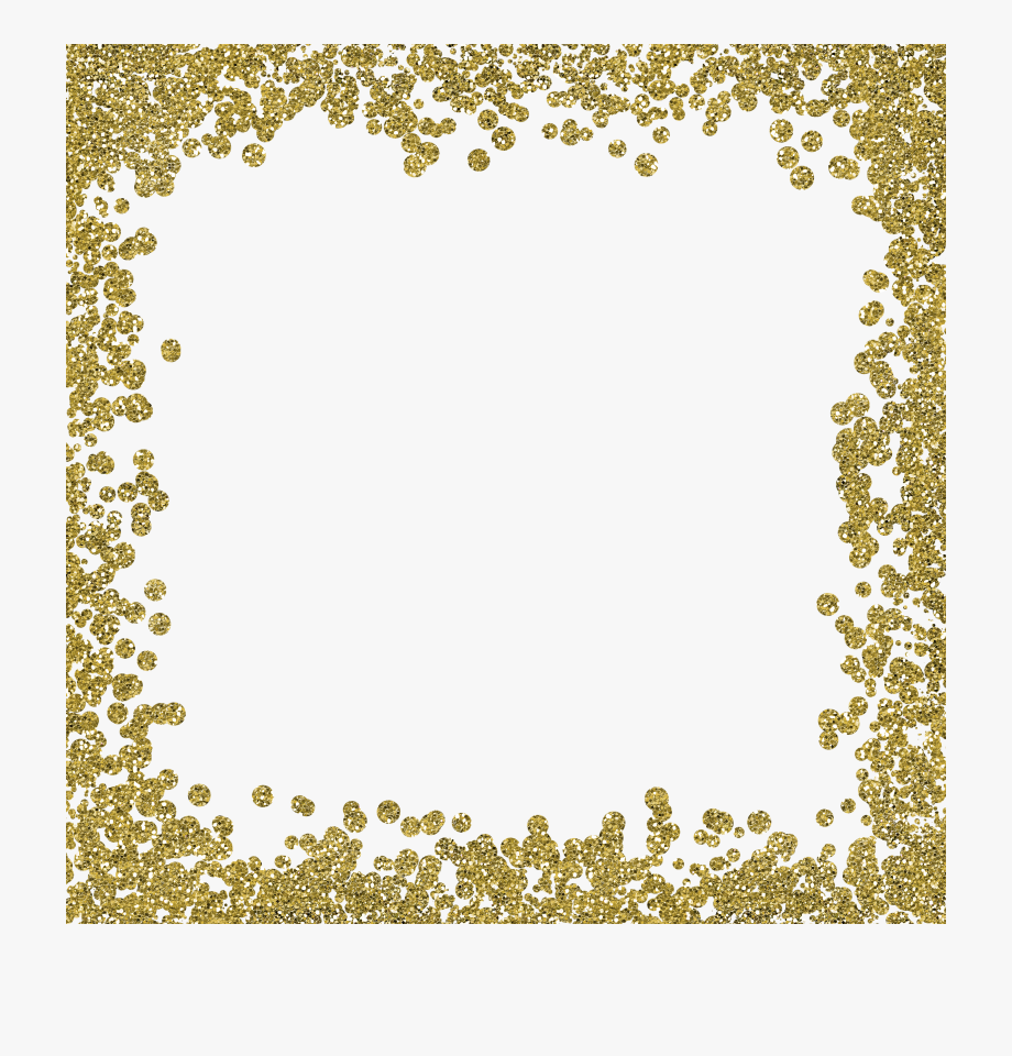 Gold Glitter Borders Png.
