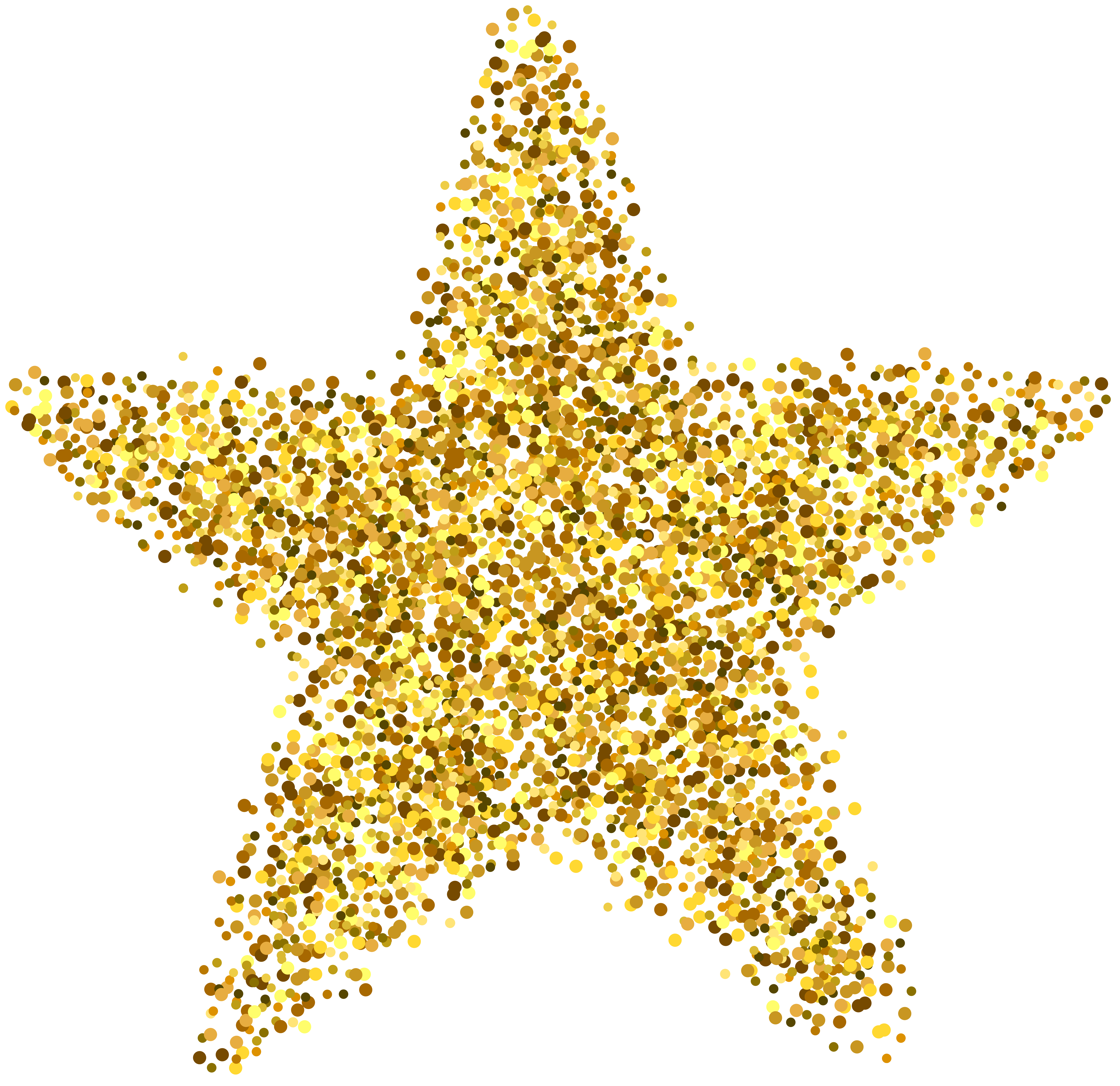 Glitter Star Decoration PNG Clip Art Image.