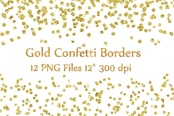 Gold Confetti Borders clipart,GLITTER CONFETTI Clipart, Glitter Confetti  Clip art.