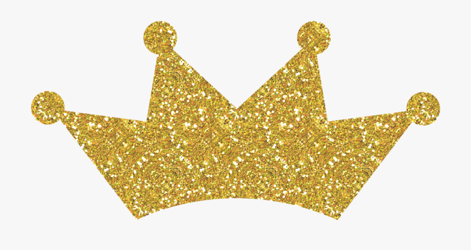 Gold Glitter Crown Png #174952.