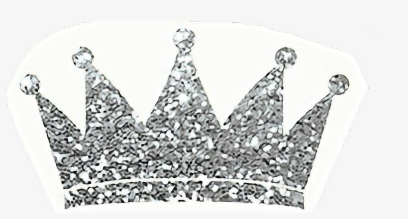 Princess Crown Glitter Silver Freetoedit Svg Transparent.