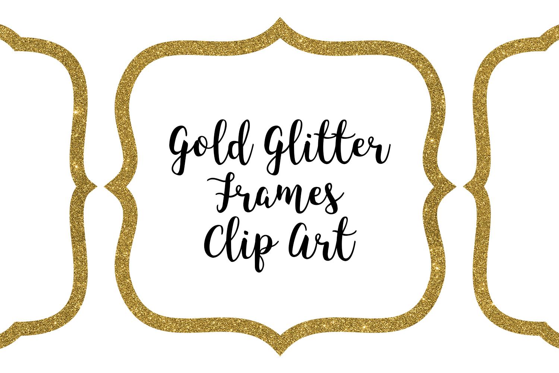Gold Glitter Frames Clip Art.