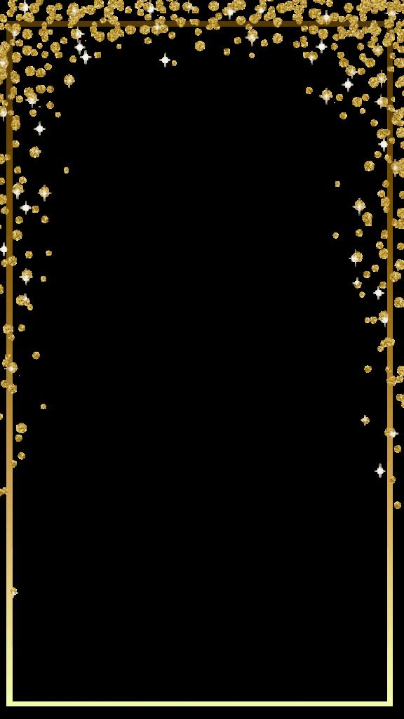 Gold Glitter Frame Png Vector, Clipart, PSD.