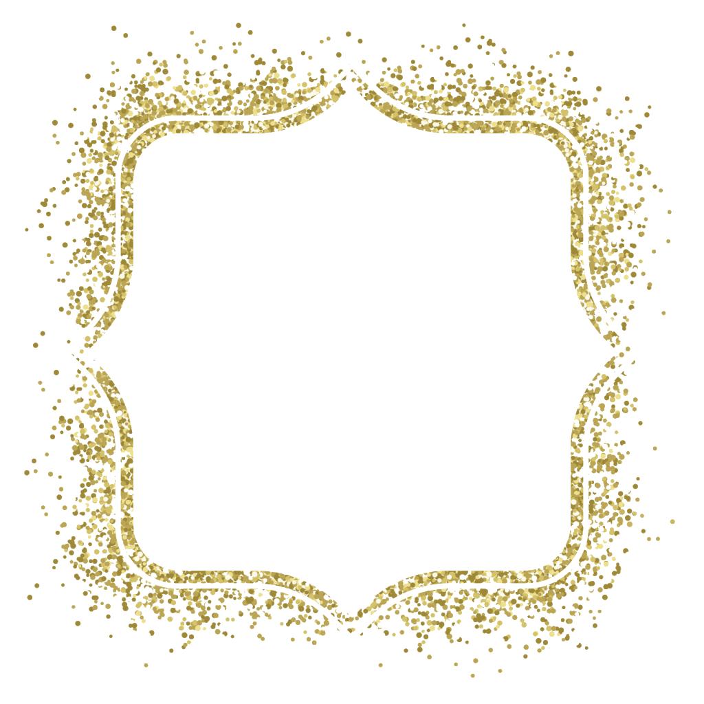 Picture frame Glitter Gold Clip art.