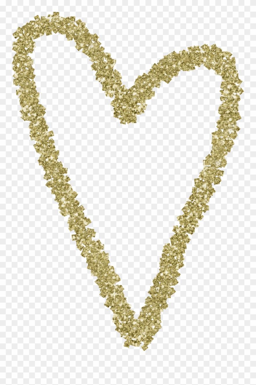 Gold Glitter Heart 7.