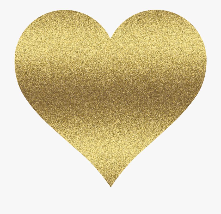 Gold Heart Clip Art.