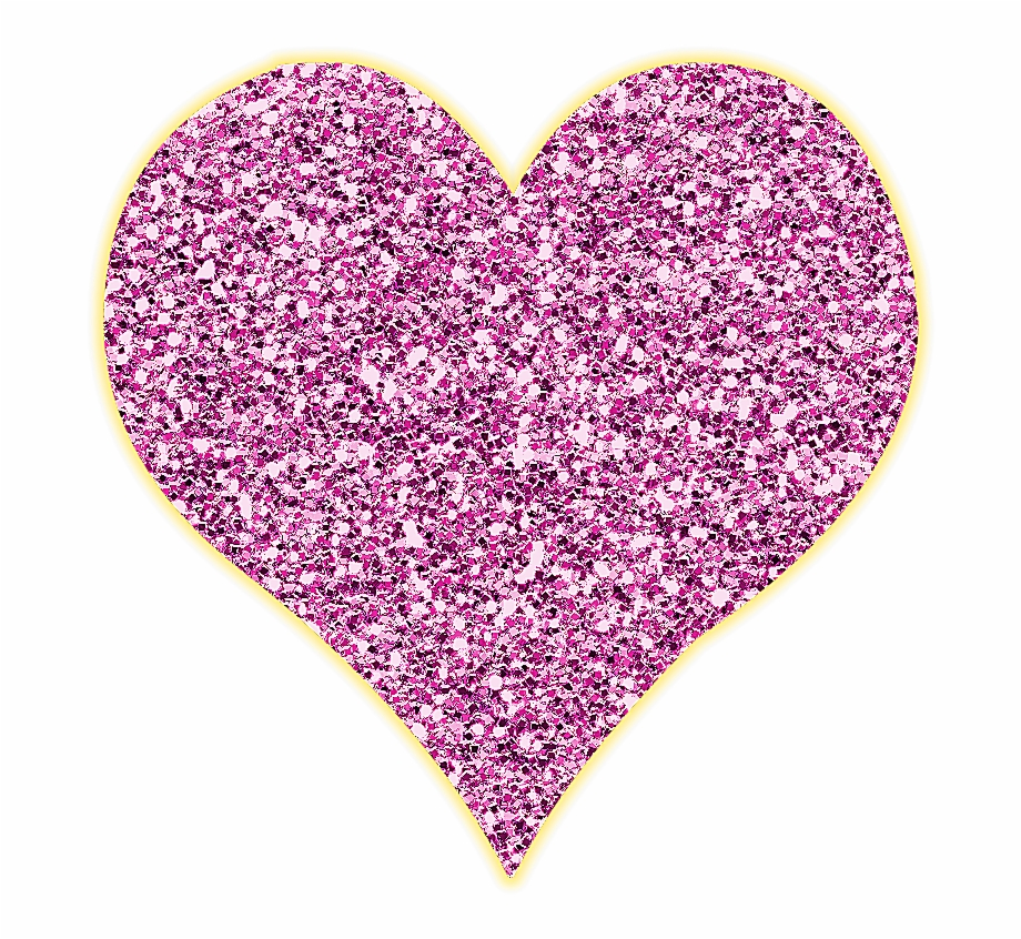 Lacarolita Just Beautiful Glitter Heart Png Clip.