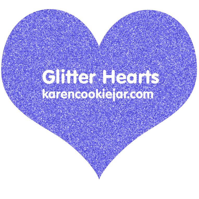Free Glitter Hearts Clipart.