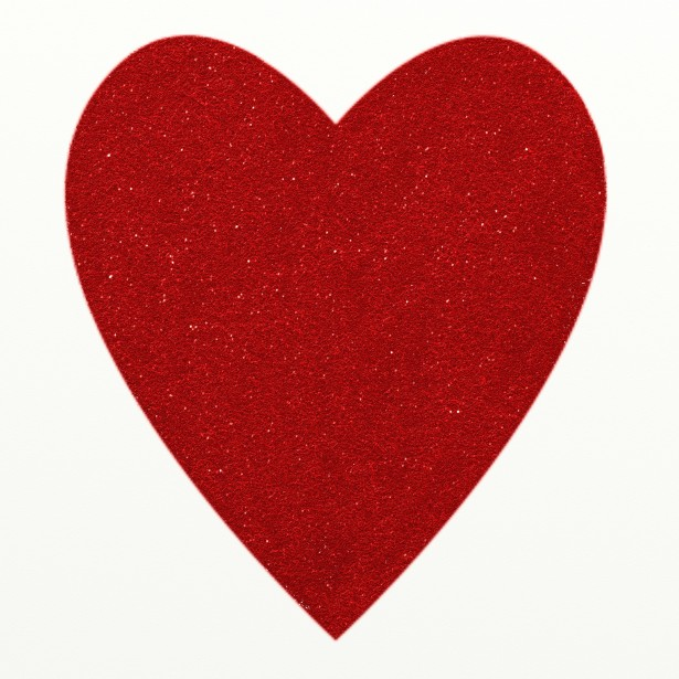 Red Glitter Heart Clipart Free Stock Photo.
