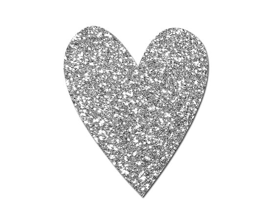 Glitter Heart Clipart / Valentines Clip Art / by Everdawn.