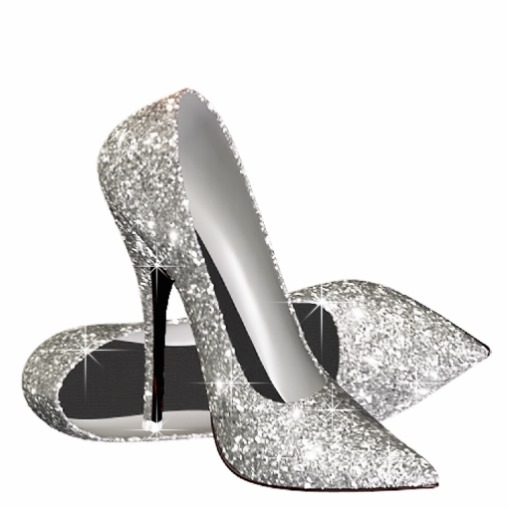 Download silver glitter heels png clipart High.