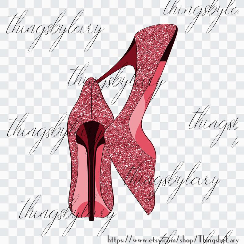 100 Glitter High Heels Cliparts, Planner Clipart, Scrapbook, Glitter Pumps,  Fashion Cliparts, Glitter Fashion, Bridal Shoes, Bridal Shower.