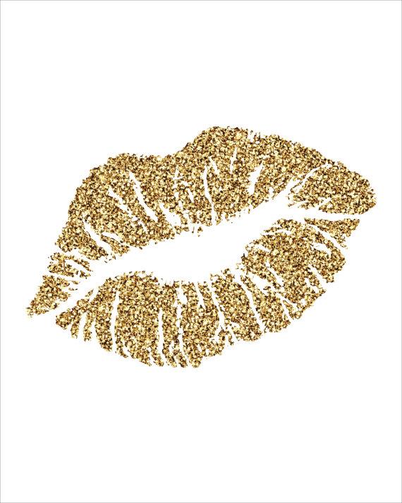 Glitter Kisses Clipart.