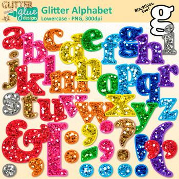 Alphabet Letters Clip Art: Lowercase & Punctuation {Glitter Meets Glue}.