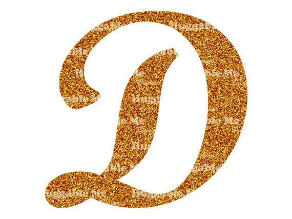 Gold Glitter Alphabet Clipart, Digital Glitter Letters Clip Art.