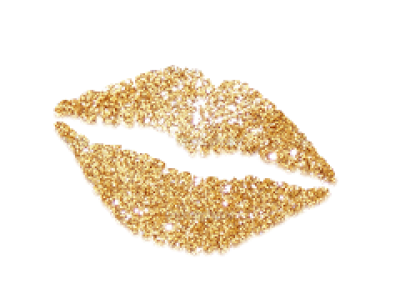 Download Free png Gold Lips Png For Transparent Png Gold Glitter.