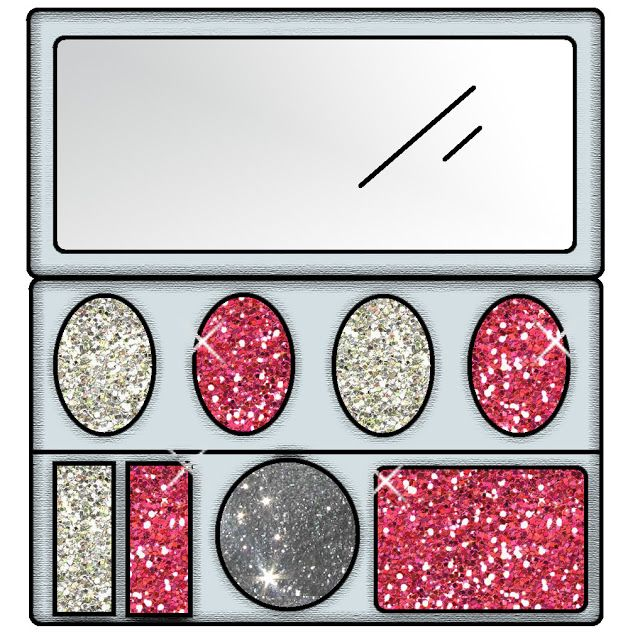 Glitter Lambs: Royalty Free Makeup Clipart For Commercial.