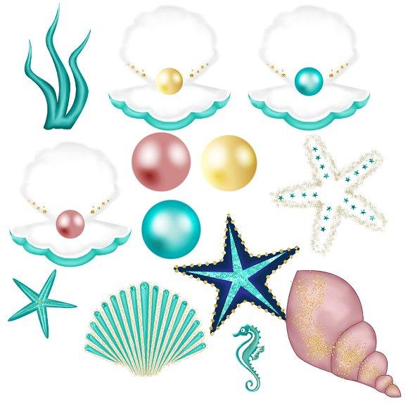 Glitter Mermaid Clipart.