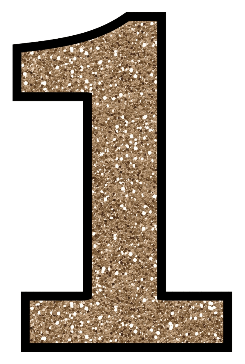 Number 1 Clip Art Glitter Without The Mess Free Digital Printable.