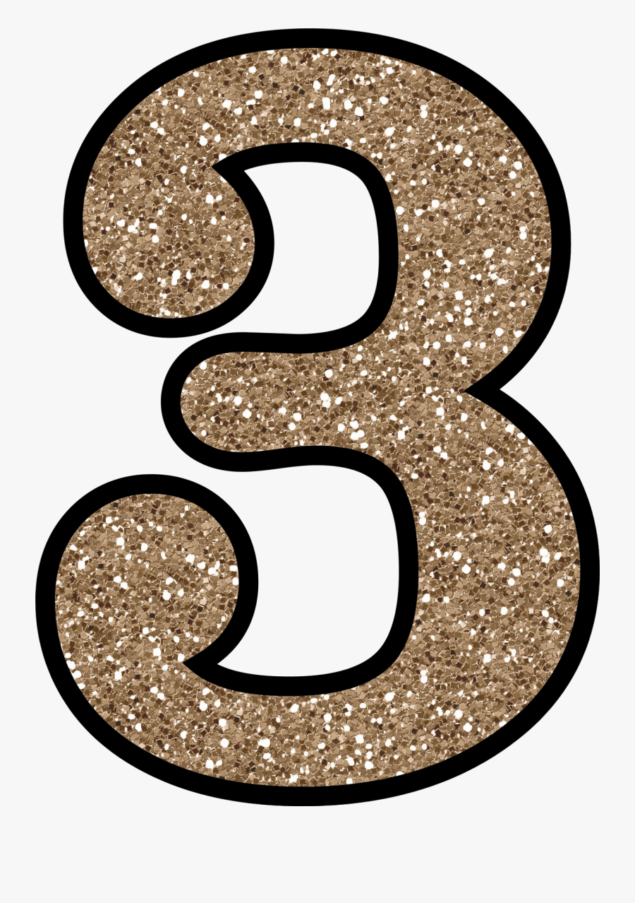 Transparent Glitter Numbers , Free Transparent Clipart.