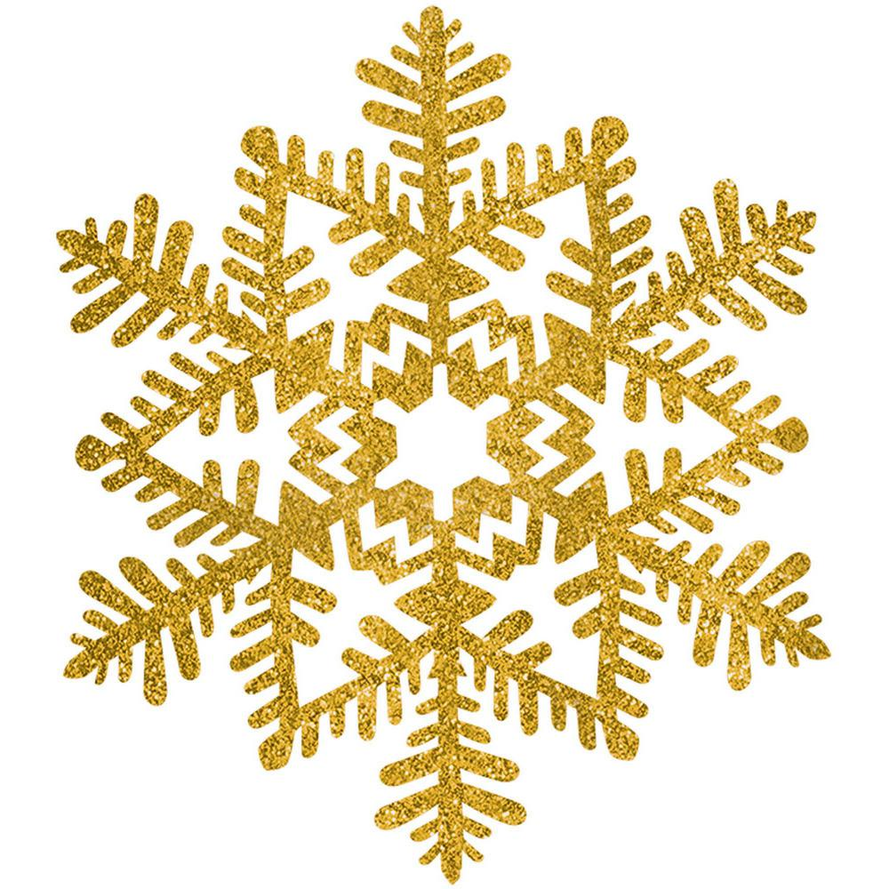 Amscan 6.5 in. Gold Glitter Snowflake Decoration (7.